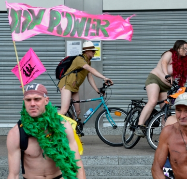 ©Barry Sandland/TIMB - World Naked Bike Ride Day in Brussels