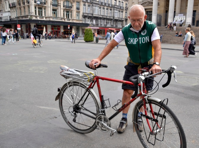 ©Barry Sandland/TIMB - UK cyclists reflecting on the difference in cycling in the UK and Belgium