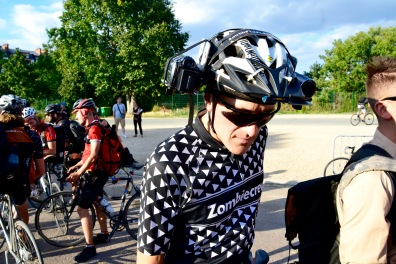 ©Barry Sandland/TIMB - Lucas Brunelle with his camera/headset combination at the Cycle Messenger World Championships
