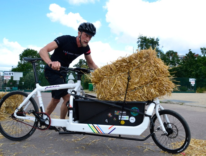 ©Barry Sandland/TIMB - Bullitt bike owner Harry with his Paris special Bullitt