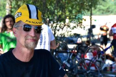 ©Barry Sandland/TIMB - Harry discussing the new Bullitt bike possibility
