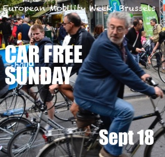 ©Barry Sandland/TIMB - Car free Sunday poster