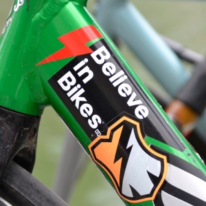 ©Barry Sandland/TIMB - Believe I Bikes sticker