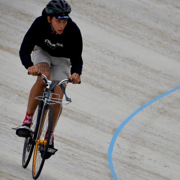 ©Barry Sandland/TIMB - Messenger fixie on the velodrome