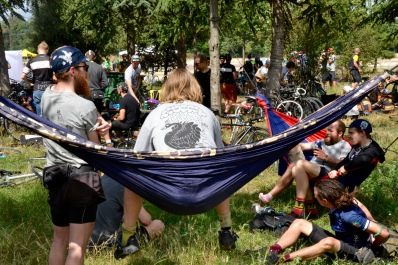 ©Barry Sandland/TIMB - Messengers and their hammocks at the CMWC in Paris