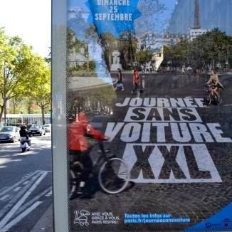 Barry Sandland/TIMB - Paris Day Without Cars promotion