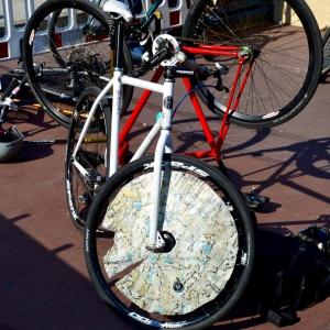 Barry Sandland/TIMB - Protective equipment surrounding a bike polo bicycle