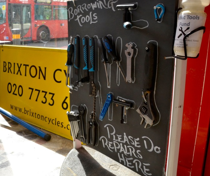 ©Barry Sandland/TIMB - The public tools and workspace at Brixton Cycles