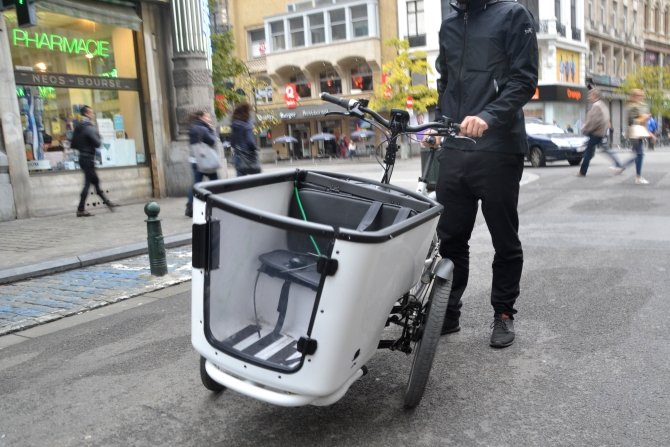 ©Barry Sandland/TIMB - Butchers and bicycles cargo bike in Brussels