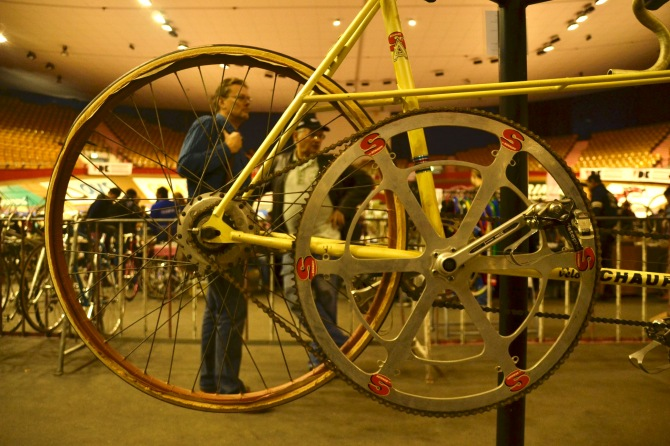 ©Barry Sandland/TIMB - Tandem record bike on display at the Stalen Ros vintage event.