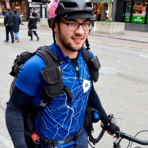 ©Barry Sandland/TIMB - Bike messenger in Brussels