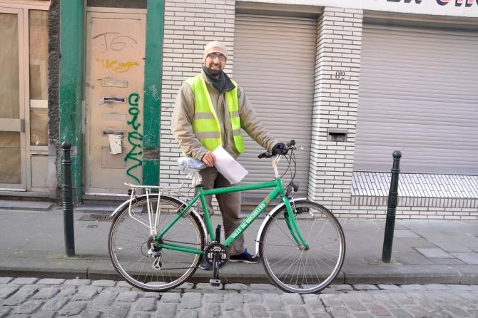©Barry Sandland/TIMB - City worker checking streets on bikes