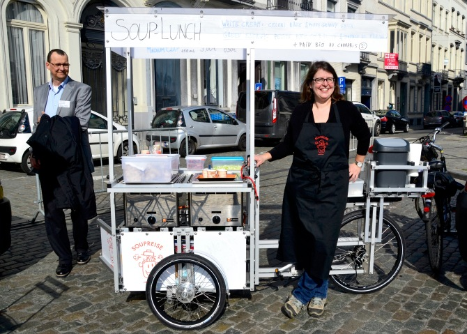 ©Barry Sandlandn/TIMB - Souprise food bike and their daily soups offered from a bike