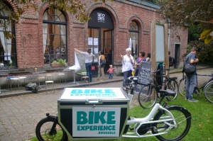 ©Barry Sandland/TIMB - Bike Experience cargo bike being prepared for an information session
