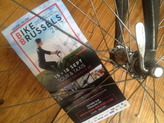 ©Barry Sandland/TIMB - Brussels Bike Fair poster promoting the Tour n Taxi event